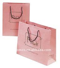 OEM lovely pink paper shopping bag