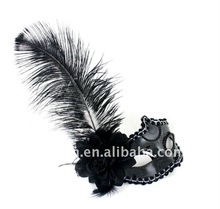 Ostrich Hair Venice Carnival Mask For Kids/Adults TZ-B18