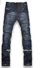 wholesale 100% cotton denim jeans & denim fabric for jeans 2012