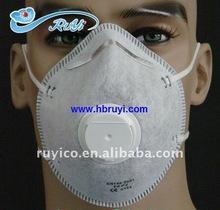 disposable nonwoven respirator FFP2 with valve & active carbon