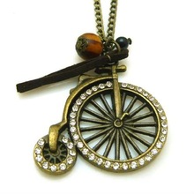 fashion bicycle crystal pendent