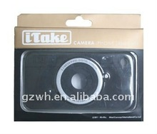 Black Camera Case/shell/housing for Iphone 4