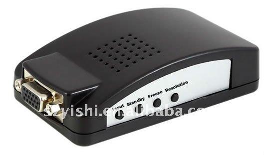 Ys-av01 AV / S-VIDEO de extremo a extremo VGA de conversión de PC a la TV