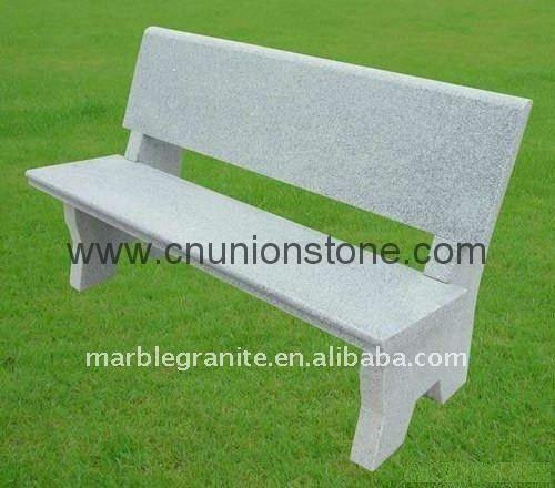 Curva de banco de piedra para el jard n m rmol for Bancos de granito para jardin