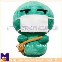 super soft green stuffed plush customized lucky doll