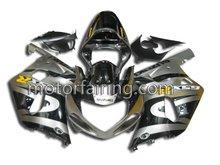 bodywork fairings GSX R750 race fairing/abs fairing for suzuki gsxr600 750 2001-2003 black/silver