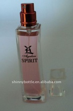 glass bottle and perfume packaging with spray cap