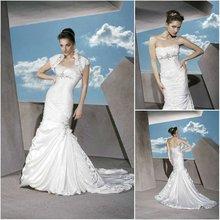 J1927 short sleeve mermaid wedding dress 2012