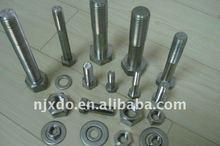 Super Duplex alloy fastener:2507 hex bolt,nut F53, S32750, 1.4410 fine rod bolt ISO4015 M12