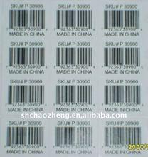 commodity adhesive barcode