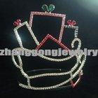Colored rhinestone Christmas pageant tiara