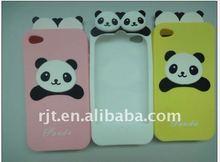 preminium panda drip gum craft silicone case for iphone 4