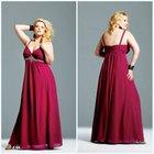 2011 Plus Size New Beautiful Fashionable Spaghetti Strap Sheath Beaded Chiffon New Model Prom Dress