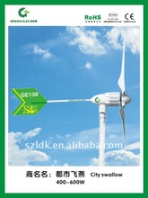 carbon fiber with plastics blades small wind generator