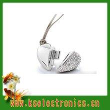 heart shape jewelry diamond usb flash drive