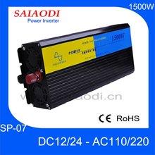 1500W High Quality Inverter Sine Wave 12v/24v 110v/220v SP07