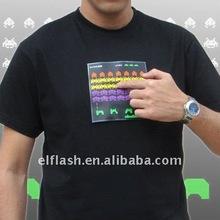 mucis sensor led light t-shirt