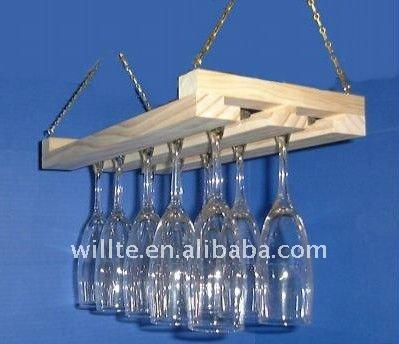 Porte verre de vin suspendus support d 39 affichage id du produit 50873376 - Porte verre suspendu bar ...