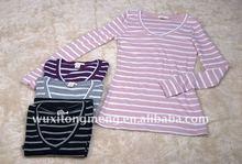 V-neck long sleeves warm fashion T-shirt