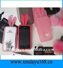 Rabbit Ear Silicone Mobile Phone Case for iphone4