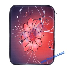 12 inch Sun Flower Pattern Notebook/Laptop Case Bag Sleeve (Red)