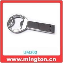 4GB shinning metal bottle opener shape fancy pen drive