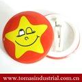 star smiley face placadeestanho emblema