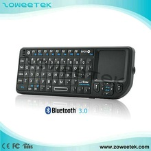 Mini Wireless Keyboard Bluetooth with Touchpad & Leser Pointer
