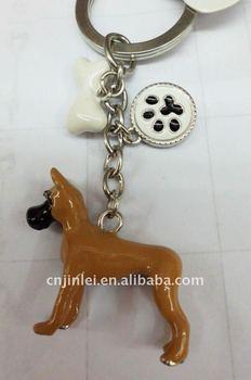 fashion enamel metal Promotion key chain