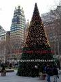 gran decoración de navidad la luz del árbol