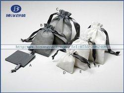 pretty handmade linen gift bags