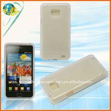 Clear white matte tpu skin case for Samsung Galaxy S2 i9100