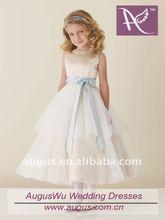 AFM006 Lovely Jewel A-Line with Satin Belt Flower Girl Dresses 2012