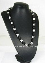 black and white skull necklace,cool shamballa necklace, DK1250