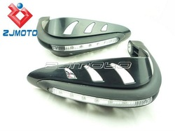 Universal MOTORCYCLE MOTOCROSS DIRTBIKE MX ATV HAND GUARDS LED for dual road handguards As Acerbis