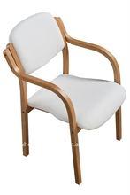 White PU Bent wood Chair