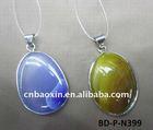 Fashion colored stone pendant