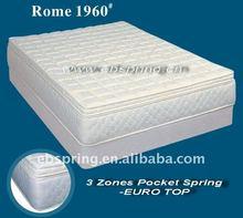 Two-row Pocket Spring & Three-row Open Spring foam mattress