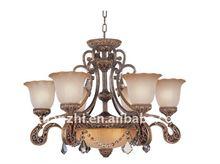 2011 hot antique classic galss chandelier light 8881-6+3P