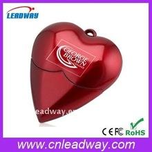 love heart shaped flash memory