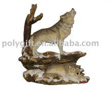 Resin craft animal wolf