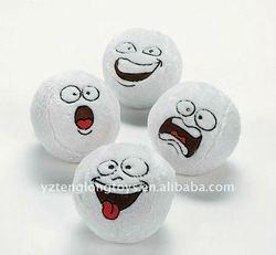 Plush Funny Face Snowballs