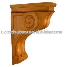 Clásica de madera decorativa Corbel