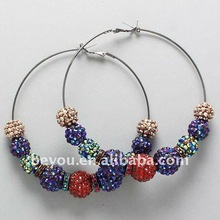 Basketball Wive Inspired Rhinestone Hoop Earring