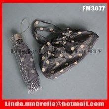 """[FM3077] 22""""x6k, dot design lady's handbag umbrella, 3 folding umbrella,mini pencil umbrella"""