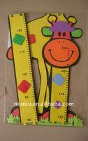 colorful eva foam giraffe growth chart