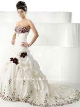 high quality custom made royal applique bride wedding dresses