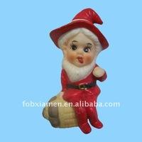 St. Patrick's Day santa suit leprechaun elf figurine
