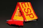 100% Acrylic Spain Football Scarf