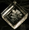 rose flower laser etched crystal paperweight